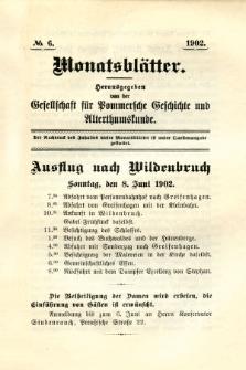 Monatsblätter Jhrg. 16, H. 6 (1902)