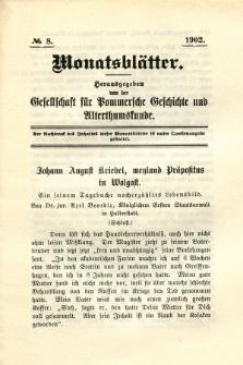 Monatsblätter Jhrg. 16, H. 8 (1902)