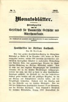 Monatsblätter Jhrg. 16, H. 9 (1902)