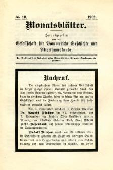 Monatsblätter Jhrg. 16, H. 10 (1902)