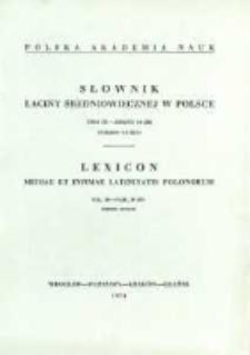 Słownik łaciny średniowiecznej w Polsce. T. 3 z. 10 (28), Expedio-Exvium