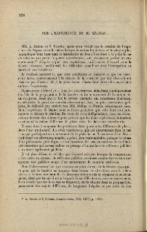 Sur l'expérience de M. Segnac, C. R. Acad. Sci., 1937, 205, 304