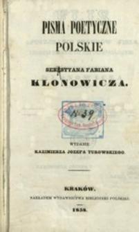 Pisma poetyczne polskie Sebestyana Fabiana Klonowicza
