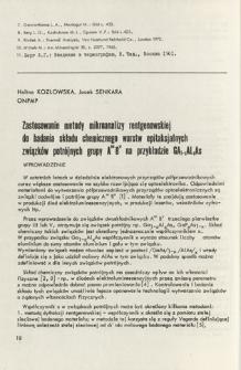 Zastosowanie metody mikroanalizy rentgenowskiej do badania składu chemicznego warstw epitaksjalnych związków potrójnych grupy AIIIBV na przykładzie GA1-xAlxAs