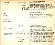 File of histopathological evaluation of nervous system diseases (1965) - nr 64/65