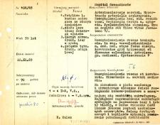 Kartoteka oceny histopatologicznej chorób układu nerwowego (1965) - opis nr 106/65