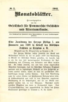Monatsblätter Jhrg. 17, H. 2 (1903)