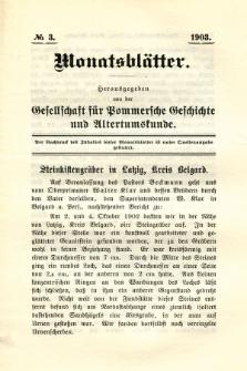 Monatsblätter Jhrg. 17, H. 3 (1903)
