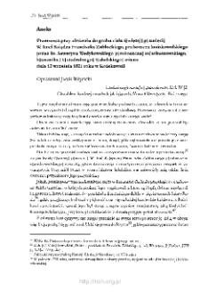 Przemowa przy złożeniu do grobu ciała ś.p. W. Imci Księdza Franciszka Zabłockiego… dnia 12 września 1821 roku w Końskowoli
