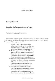 Supplex libellus populorum ad reges; Pokorna prośba od ludzi do monarchów wojujących