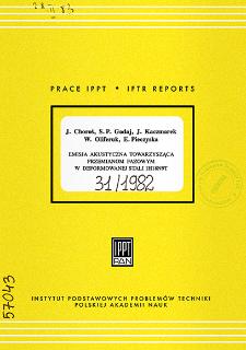 Emisja akustyczna towarzysząca przemianom fazowym w deformowanej stali 1H18N9T
