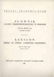 Słownik łaciny średniowiecznej w Polsce. T. 6 z. 6 (50), Nuntius - Octus