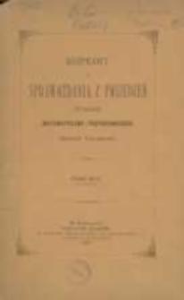 Rozprawy i Sprawozdania z Posiedzeń Wydziału Matematyczno-Przyrodniczego Akademii Umiejetności, Tom XV:1887