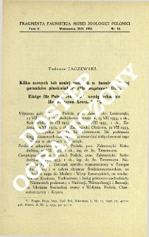 Kilka nowych lub mniej znanych w faunie polskiej gatunków pluskwiaków (Heteroptera). 3 = Einige für Polen neue oder wenig bekannte Heteropteren-Arten. 3