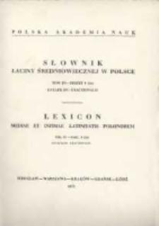 Słownik łaciny średniowiecznej w Polsce. T. 3 z. 8 (26), Entafilon - exactionalis