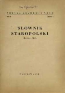 Słownik staropolski. T. 1 z. 4, (Bystry-Ciec)