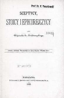 Sceptycy, stoicy i epikurejczycy