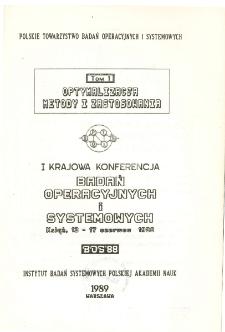 Optymalizacja metody i zastosowania. Tom 1: I Krajowa Konferencja Badań Operacyjnych i Systemowych BOS'88, Książ, 13-17 czerwca 1988 * Optymalizacja struktur * Wyznaczanie optymalnej strategii testowania programu