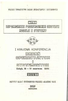 Optymalizacja metody i zastosowania. Tom 2: I Krajowa Konferencja Badań Operacyjnych i Systemowych BOS'88, Książ, 13-17 czerwca 1988 * Systemy wspomagające zarządzanie * Mikrokomputerowy system zarządzania ośrodkiem doskonalenia kadr z elementami badań operacyjnych do optymalizacji decyzji