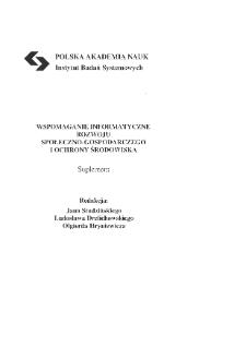 Wspomaganie informatyczne rozwoju społeczno-gospodarczego i ochrony środowiska * Przedmowa