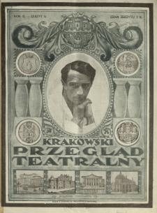 Krakowski Przegląd Teatralny : tygodnik art.-literacki dla spraw teatru, literat. dram. i sztuki 1920 N.5