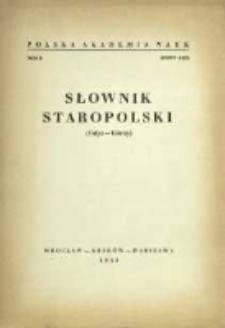 Słownik staropolski. T. 2 z. 6 (12), (Gdyż-Górny)