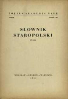 Słownik staropolski. T. 3 z. 1 (14), (I-Ja)