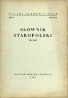 Słownik staropolski. T. 3 z. 2 (15), (Ja-Jen)