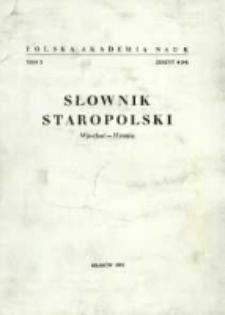 Słownik staropolski. T. 10 z. 4 (64), (Wjechać - Wronię)