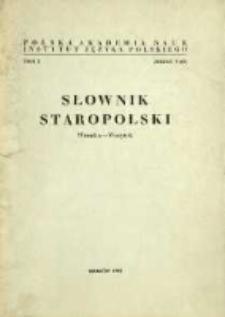 Słownik staropolski. T. 10 z. 5 (65), (Wronka-Wszytek)