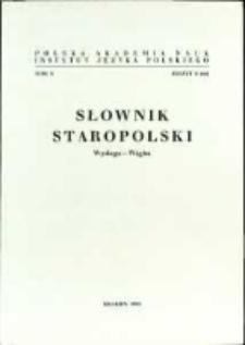 Słownik staropolski. T. 10 z. 8 (68), (Wysługa-Wżgim)