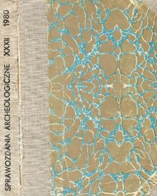 Sprawozdania Archeologiczne T. 32 (1980), Omówienia i recenzje
