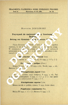 Przyczynek do znajomości fauny krocionogów Mołdawji = Beitrag zur Kenntnis Diplopodenfauna Moldaviens
