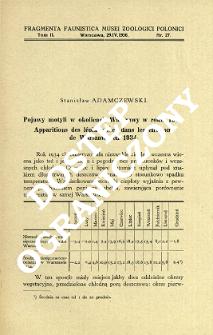 Pojawy motyli w okolicach Warszawy w roku 1934 = Apparitions des lépidoptères dans les environs de Warszawa en 1934