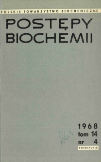 Postępy biochemii, Tom 14, Nr 4
