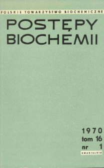 Postępy biochemii, Tom 16, Nr 1