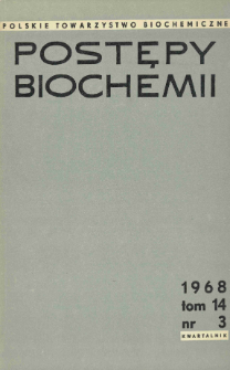 Postępy biochemii, Tom 14, Nr 3