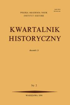Kwartalnik Historyczny R. 101 nr 2 (1994), Kronika