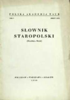 Słownik staropolski. T. 5 z. 3 (27), (Niechać-Nieść)