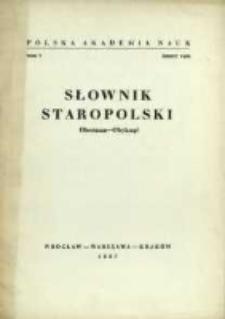 Słownik staropolski. T. 5 z. 5 (29), Oberman-Obyknąć