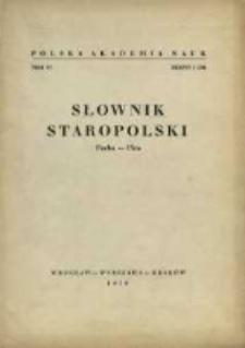 Słownik staropolski. T. 6 z. 1 (34), (Pacha-Pica)