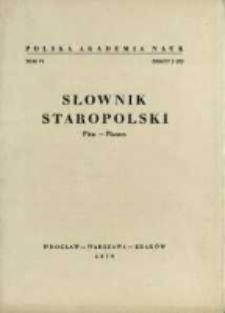 Słownik staropolski. T. 6 z. 2 (35), (Pica-Płaszcz)
