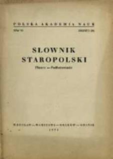 Słownik staropolski. T. 6 z. 3 (36), Płaszcz-Podfutrowanie