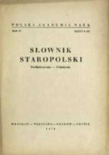 Słownik staropolski. T. 6 z. 4 (37), (Podfutrowanie-Pokolenie)