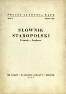 Słownik staropolski. T. 6 z. 5 (38), Pokolenie-Podarować