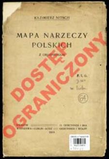 Mapa narzeczy polskich z objaśnieniami