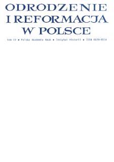 Odrodzenie i Reformacja w Polsce T. 55 (2011), Recenzje, omówienia, noty