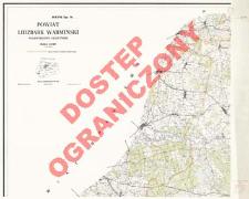 Powiat Lidzbark Warmiński : województwo olsztyńskie : skala 1:25 000