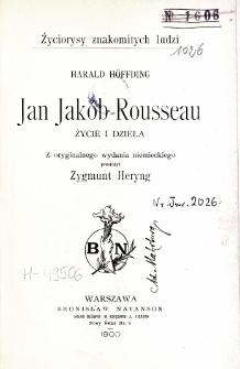 Jan Jakób Rousseau : życie i dzieła