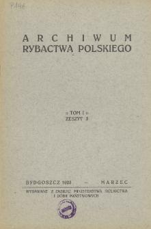 Archiwum Rybactwa Polskiego, vol. 1 no 3